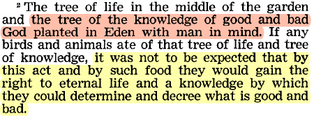 Why would Adam or Eve choose the tree of knowledge instead
