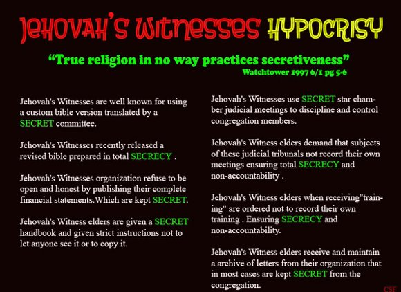 Is the Watchtower Bible and Tract Society a Secretive